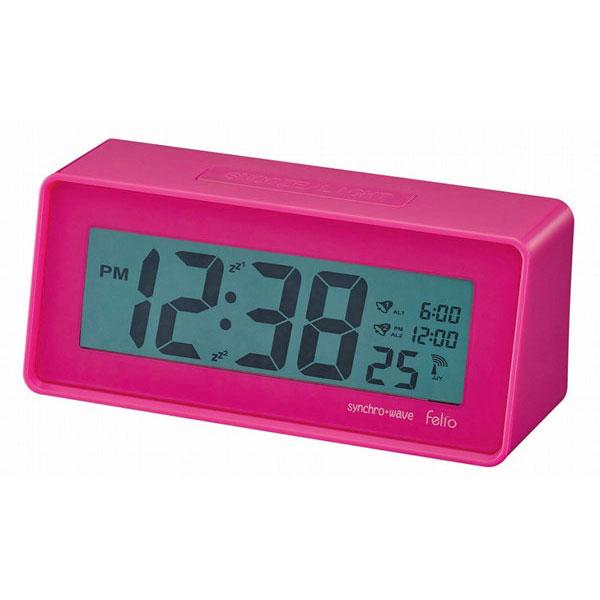 デジタル電波時計 FEA161 エブリー ピンク/60点入り(代引き不可)