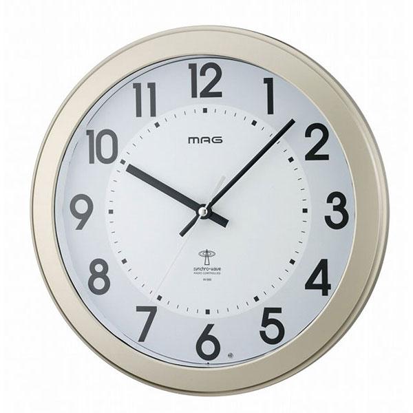 常時点灯電波掛時計 W-566 オベロン /12点入り(代引き不可)