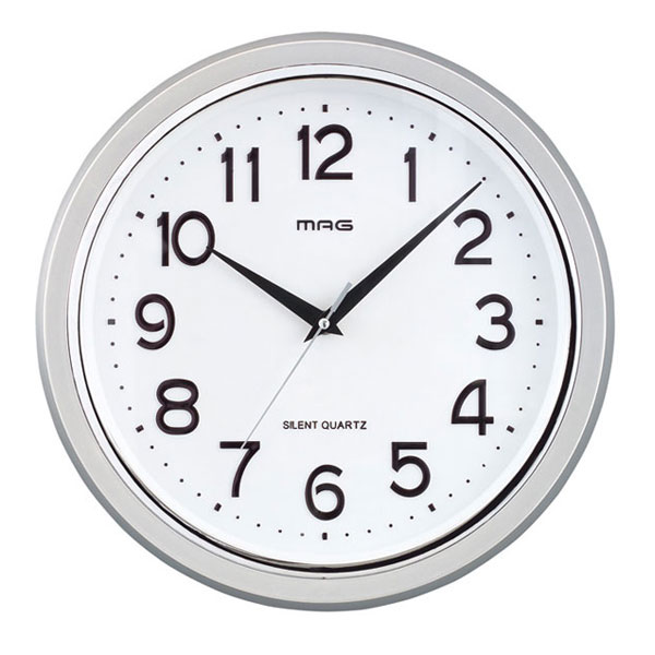 掛時計 W-524 THEマグ 銀メタリック/12点入り(代引き不可)