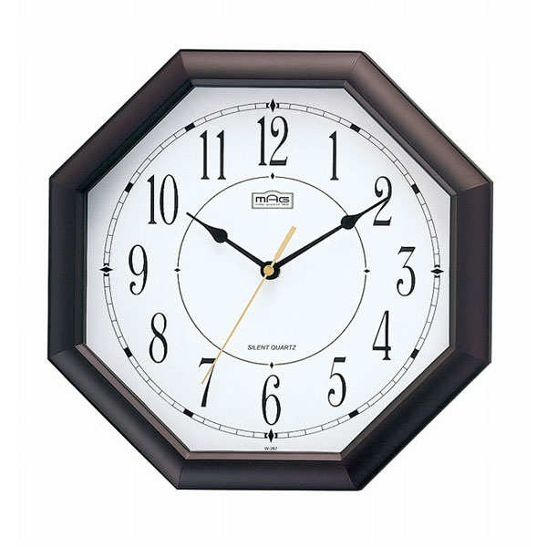 木枠掛時計 W-287 オクターゴ /20点入り(代引き不可)