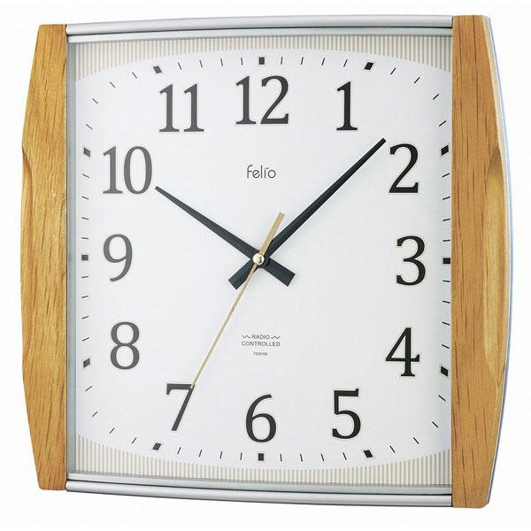 電波掛時計 FEW166 アプリコット /10点入り(代引き不可)