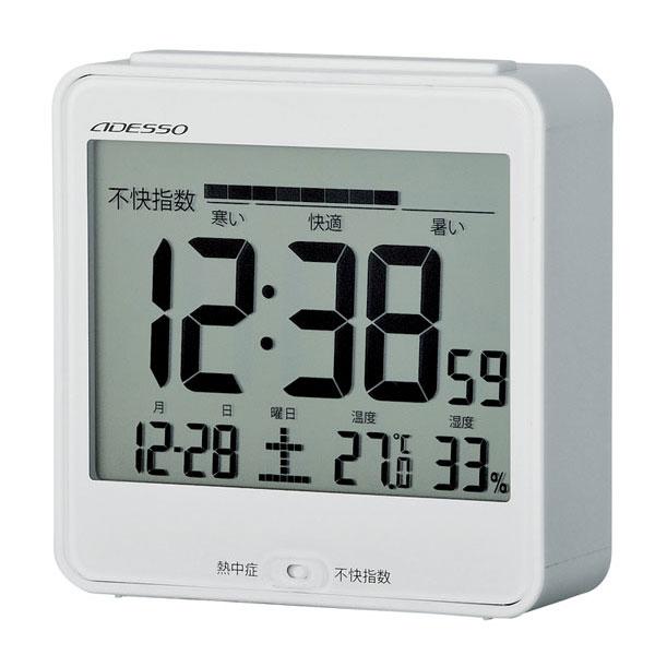 目覚し電波時計(熱中症指数表示付/不快指数表示付)C-8386 目覚し電波時計 C-8386/50点入り(代引き不可)