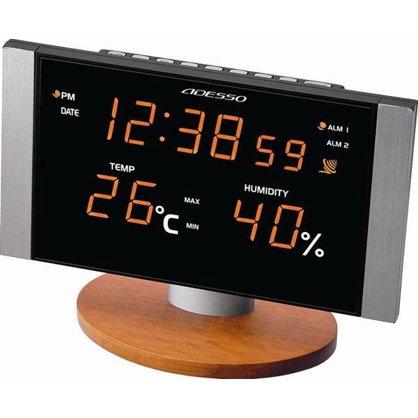 LED温湿度電波クロック C-8305OR LED温湿度電波クロック C-8305OR/20点入り(代引き不可)