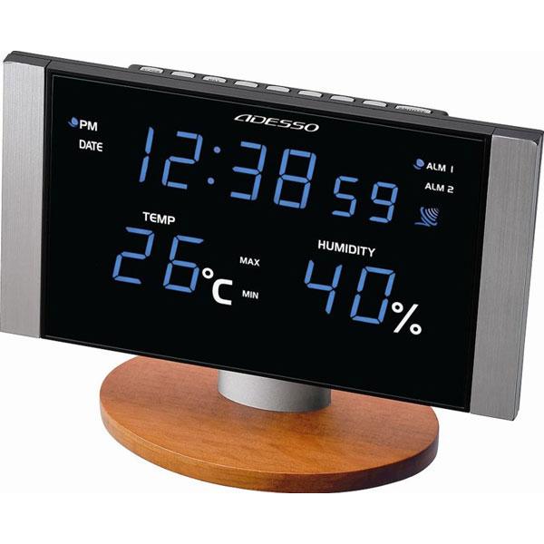 LED温湿度電波クロック C-8305BL LED温湿度電波クロック C-8305BL/20点入り(代引き不可)