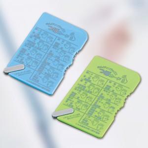 血行促進グッズ つぼカード(日本製) つぼカード(アソート)・グリーン/200点・ブルー/200点(代引き不可)