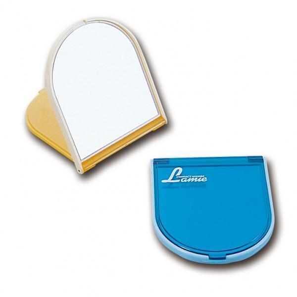 鏡(ミラー) ラミ・コンパクトミラー(日本製) ラミ・コンパクトミラー(アソート)・イエロー/100点・ブルー/100点(代引き不可)