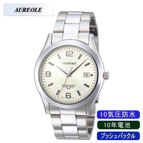【AUREOLE】オレオール メンズ腕時計 SW-409M-4 アナログ表示 日常生活用防水 10年電池 10気圧防水 /10点入り(代引き不可)