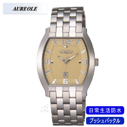 【AUREOLE】オレオール メンズ腕時計 SW-465M-2 アナログ表示 日常生活用防水 /1点入り(代引き不可)