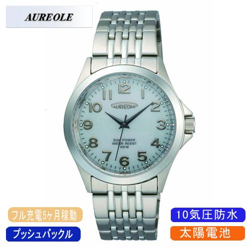 【AUREOLE】オレオール メンズ腕時計 SW-482M-6 アナログ表示 ソーラー 10気圧防水 /1点入り(代引き不可)