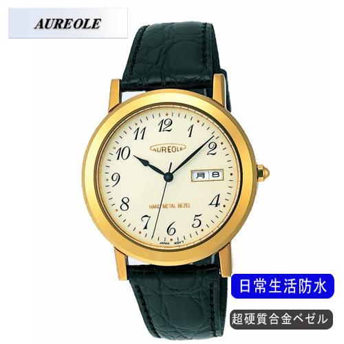 【AUREOLE】オレオール メンズ腕時計 SW-436M-2 アナログ表示 超硬質合金ベゼル 日常生活用防水 /5点入り(代引き不可)