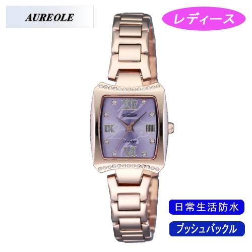 【AUREOLE】オレオール レディース腕時計 SW-498L-2 アナログ表示 日常生活用防水 /5点入り(代引き不可)