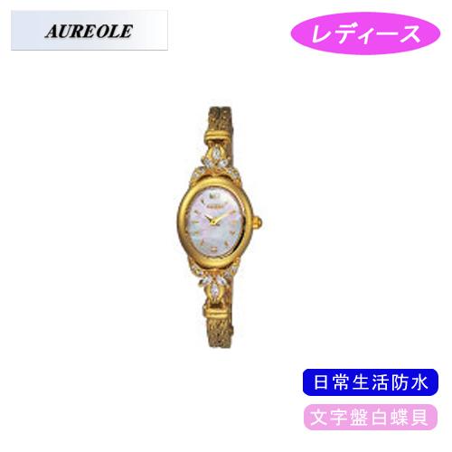 【AUREOLE】オレオール レディース腕時計 SW-451L-2 アナログ表示 文字盤白蝶貝 日常生活用防水 /10点入り(代引き不可)