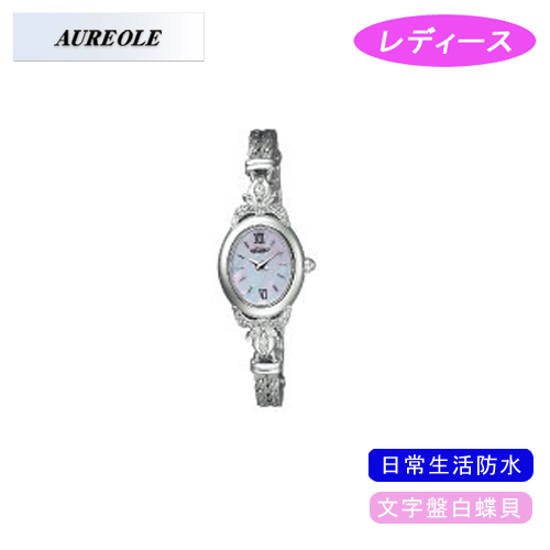 【AUREOLE】オレオール レディース腕時計 SW-451L-3 アナログ表示 文字盤白蝶貝 日常生活用防水 /10点入り(代引き不可)