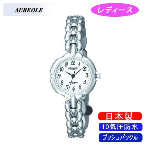 【AUREOLE】オレオール レディース腕時計 SW-496L-C アナログ表示 10気圧防水 日本製 /5点入り(代引き不可)