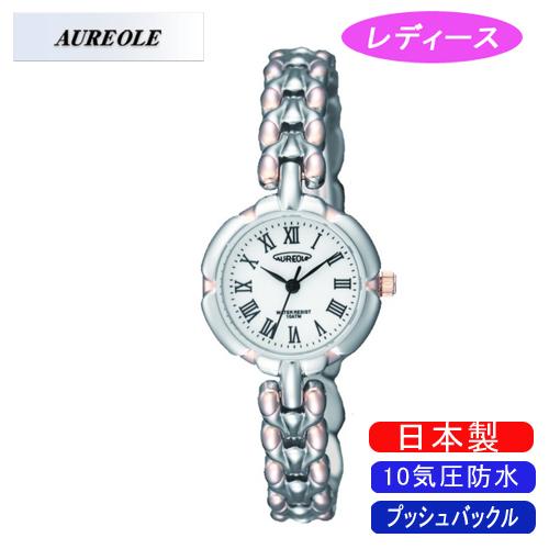 【AUREOLE】オレオール レディース腕時計 SW-496L-D アナログ表示 10気圧防水 日本製 /5点入り(代引き不可)