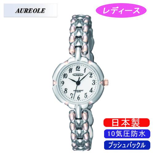 【AUREOLE】オレオール レディース腕時計 SW-496L-E アナログ表示 10気圧防水 日本製 /1点入り(代引き不可)