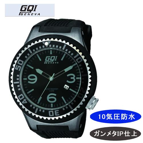 【GQI GENEVA】 ジェネバ メンズ腕時計 GQ-106 アナログ表示 10気圧防水 /10点入り(代引き不可)