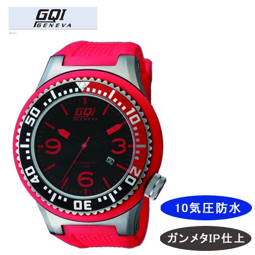 【GQI GENEVA】 ジェネバ メンズ腕時計 GQ-110 アナログ表示 10気圧防水 /5点入り(代引き不可)