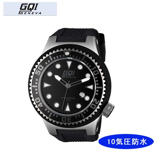 【GQI GENEVA】 ジェネバ メンズ腕時計 GQ-111-1 アナログ表示 10気圧防水 /10点入り(代引き不可)