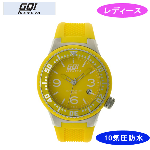 【GQI GENEVA】 ジェネバ レディース腕時計 GQ-112-6 アナログ表示 10気圧防水 /5点入り(代引き不可)