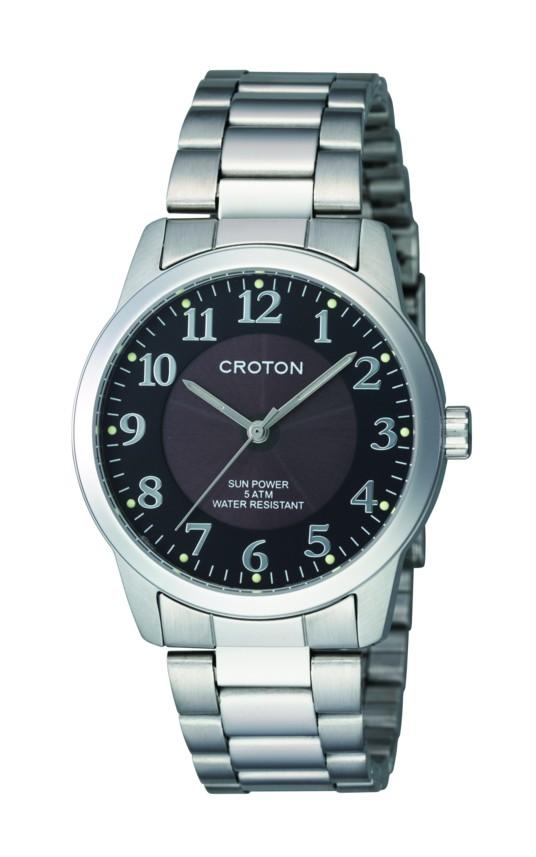 【CROTON】クロトン メンズ腕時計 RT-161M-1 アナログ表示 ソーラー 5気圧防水 /5点入り(代引き不可)