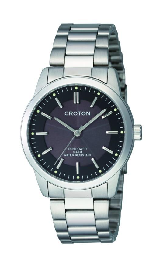 【CROTON】クロトン メンズ腕時計 RT-161M-3 アナログ表示 ソーラー 5気圧防水 /5点入り(代引き不可)