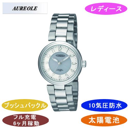 【AUREOLE】オレオール レディース腕時計 SW-572L-3 アナログ表示 ソーラー 10気圧防水 /1点入り(代引き不可)