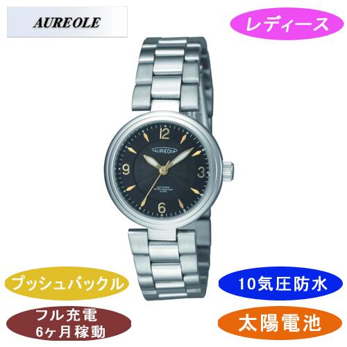 【AUREOLE】オレオール レディース腕時計 SW-572L-4 アナログ表示 ソーラー 10気圧防水 /5点入り(代引き不可)