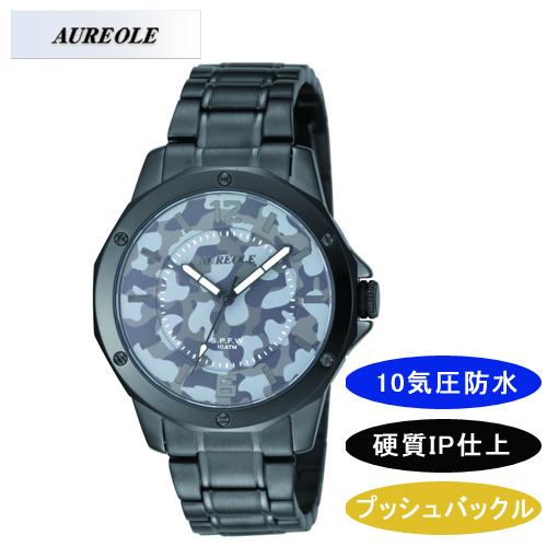 【AUREOLE】オレオール メンズ腕時計 SW-571M-4 アナログ表示 10気圧防水 /10点入り(代引き不可)