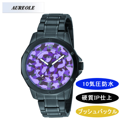【AUREOLE】オレオール メンズ腕時計 SW-571M-6 アナログ表示 10気圧防水 /1点入り(代引き不可)