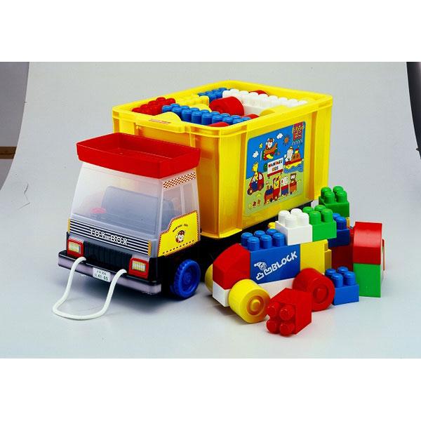 おもちゃ箱 ダンプ凸凹ブロック51ピース付き おもちゃ箱 ダンプ凸凹ブロック51ピース付き/2点入り(代引き不可)