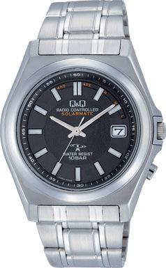【CITIZEN】シチズン Q&Q ソーラー電源 アナログ電波 メンズ腕時計HG08-202 /5点入り(代引き不可)