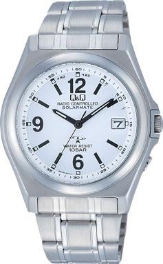 【CITIZEN】シチズン Q&Q ソーラー電源 アナログ電波 メンズ腕時計HG08-204 /5点入り(代引き不可)