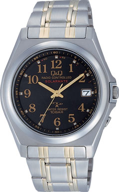 【CITIZEN】シチズン Q&Q ソーラー電源 アナログ電波 メンズ腕時計HG08-205 /1点入り(代引き不可)
