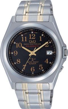 【CITIZEN】シチズン Q&Q ソーラー電源 アナログ電波 メンズ腕時計HG08-205 /5点入り(代引き不可)