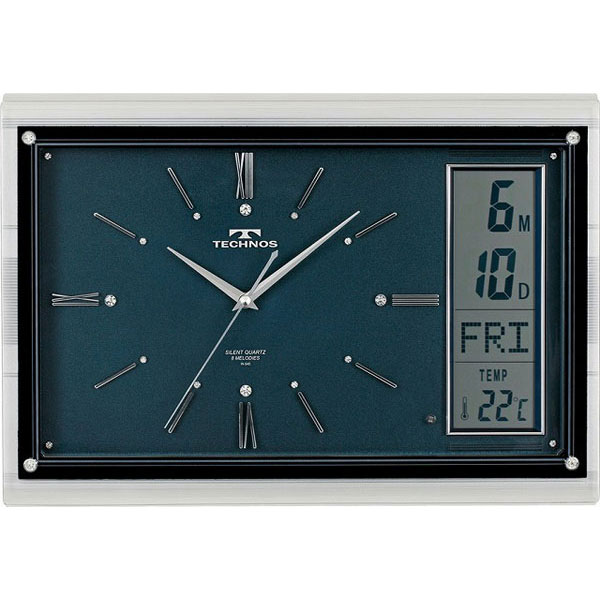テクノス掛時計W-540DBU /5点入り(代引き不可)