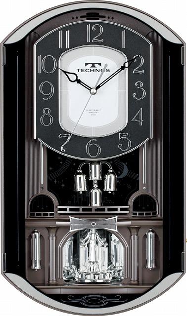 テクノス掛時計W-541GYM /5点入り(代引き不可)