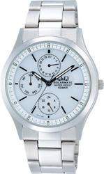 【CITIZEN】シチズン Q&Q ソーラー電源搭載マルチハンズ メンズ腕時計H014-201 /10点入り(代引き不可)
