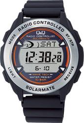 【CITIZEN】シチズン Q&Q ソーラー電源デジタル電波 メンズ腕時計MHS7-300 /10点入り(代引き不可)