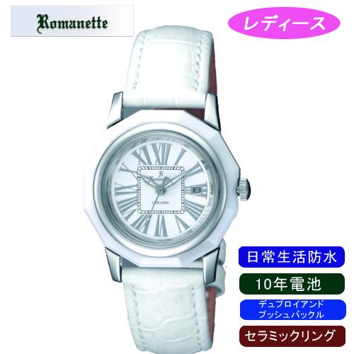 【ROMANETTE】ロマネッティ レディース腕時計RE-3521L-3 アナログ表示 10年電池 日常生活用防水 /1点入り(代引き不可)