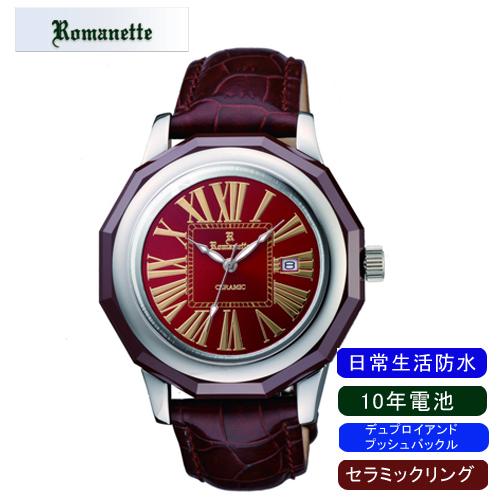 【ROMANETTE】ロマネッティ メンズ腕時計RE-3521M-6 アナログ表示 10年電池 日常生活用防水 /1点入り(代引き不可)