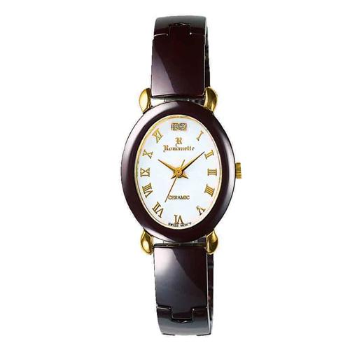 【ROMANETTE】ロマネッティ レディース腕時計RE-3512L-2 アナログ表示 K18リューズ 天然ダイヤ2P 3気圧防水 /5点入り(代引き不可)