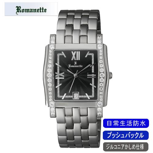 【ROMANETTE】ロマネッティ メンズ腕時計RE-3519M-1 アナログ表示 スイス製ムーブ 日常生活用防水 /5点入り(代引き不可)