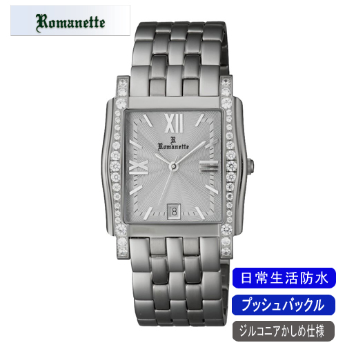 【ROMANETTE】ロマネッティ メンズ腕時計RE-3519M-3 アナログ表示 スイス製ムーブ 日常生活用防水 /10点入り(代引き不可)【ポイント10倍】