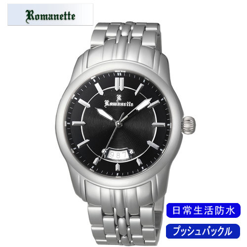 【ROMANETTE】ロマネッティ メンズ腕時計RE-3518M-1 アナログ表示 スイス製ムーブ 日常生活用防水 /10点入り(代引き不可)