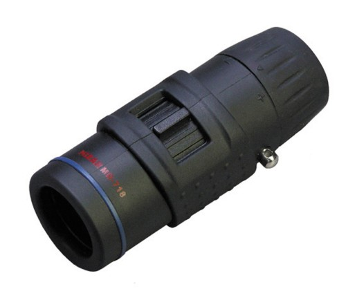 【MIZAR-TEC】ミザールテック 単眼鏡 7倍18口径 小型タイプ ケース付き MD-718ブラック /10点入り(代引き不可)【送料無料】