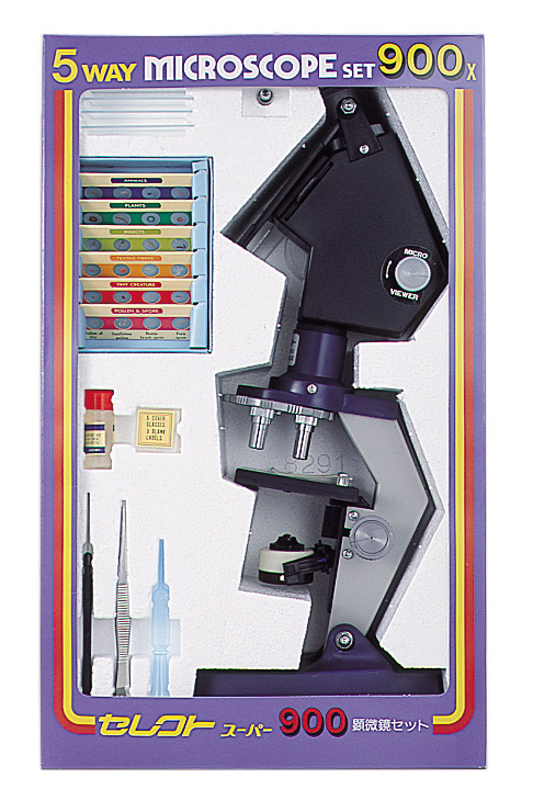 【MIZAR-TEC】ミザールテック 学習顕微鏡セレクトスーパー900 300~900倍(日本製) /5点入り(代引き不可)