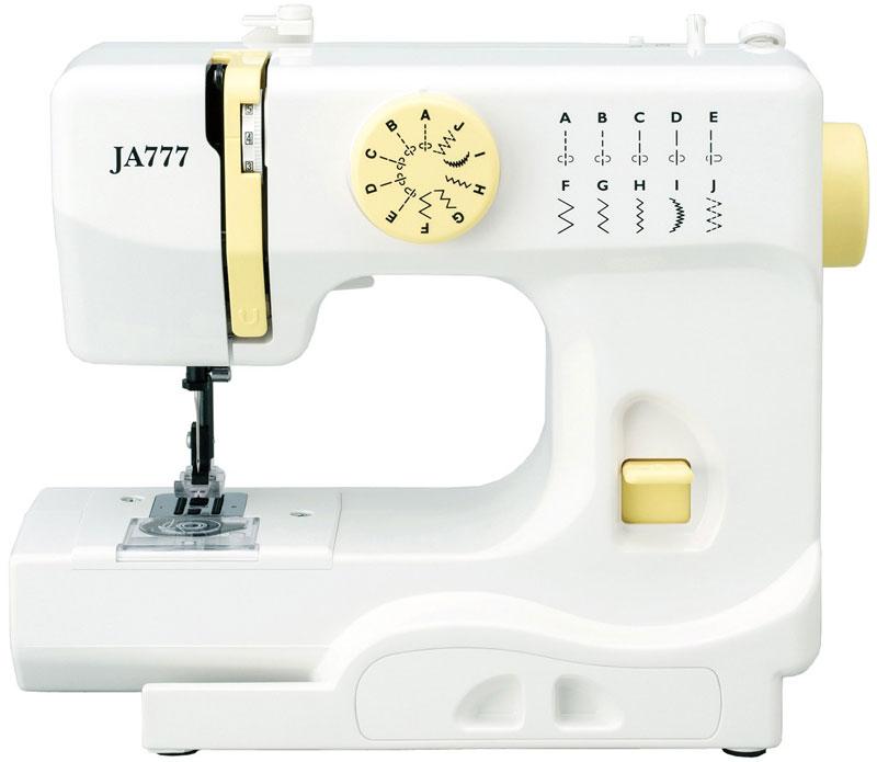 ジャノメ 電動ミシン JA777 コンパクト電動ミシン フットスイッチ付き(代引不可)【送料無料】