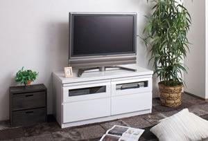TVボード 艶ありホワイト 幅100cm TE-0001 日本製 完成品【送料無料】