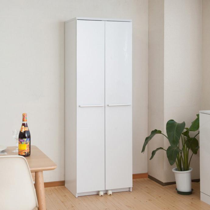 キッチンシリーズFace 大容量キッチンストッカー幅60 ホワイト(代引不可)【送料無料】